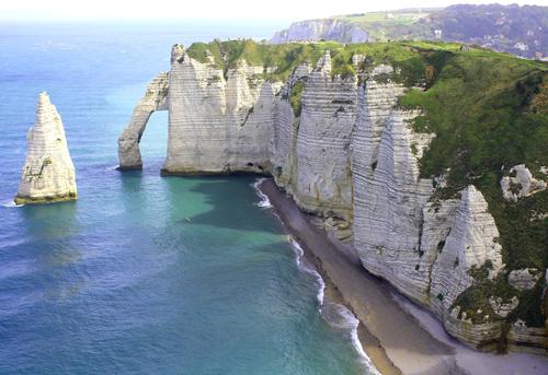 La preciosa costa de alabastro en Normandía